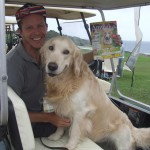 Gavin Roberts and Dougal, KZN PRO dog both smiling for the camera