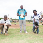 Boitumelo Digabane (middle), Judge Joey Davids from  Hoodlum Kennels
