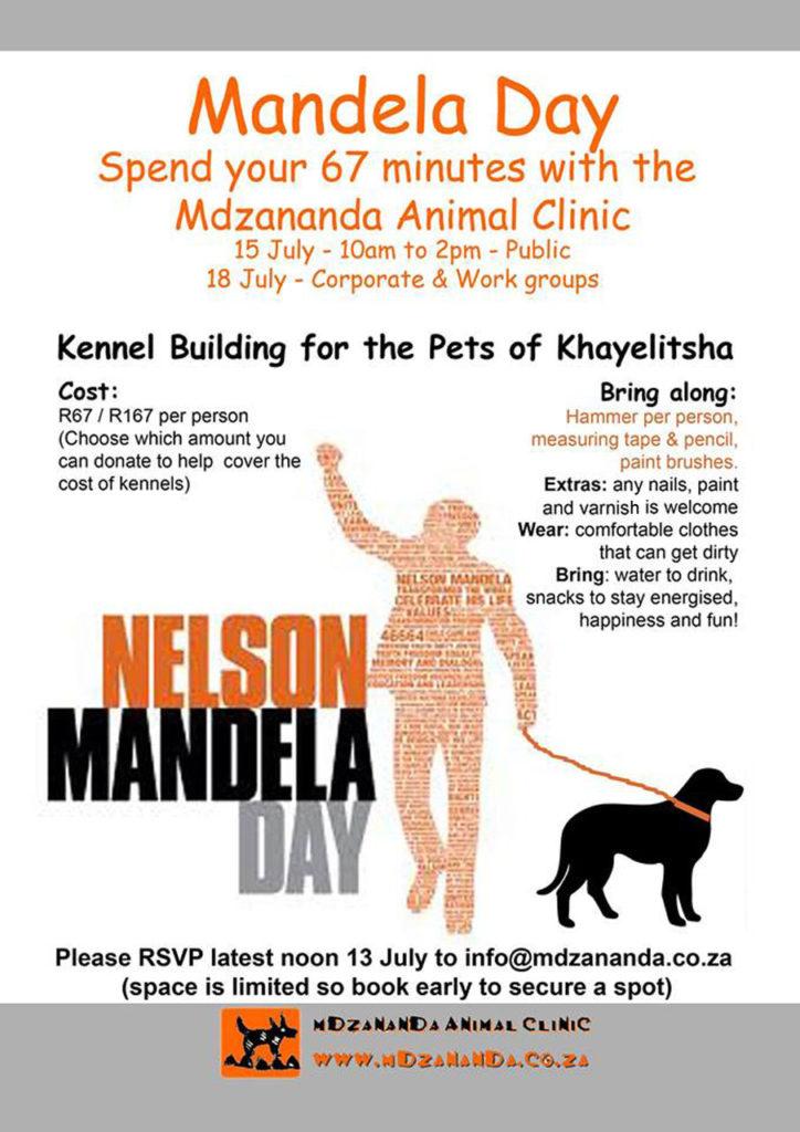 Mandela Day Kennel Building Invitation 2017 Kennel Building for Khayelitsha Pets on Mandela Day Kennel Building for Khayelitsha Pets on Mandela Day Mandela Day Kennel Building Invitation 2017